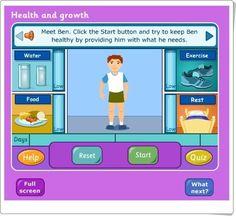 """""""La salud y el crecimiento"""" (bbc.co.uk) Online Gratis, Science And Nature, Family Guy, English, Bbc, Health, Natural, Sports, Food"""