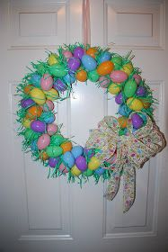 I had an idea to make a wreath with plastic eggs and after I googled it I found several ideas I like but I really liked  this blog post  wi...