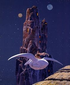 French Comics Artist Moebius Dies at 73: This 1995 piece shows the warrior Arzach riding the pterodactyl-like creature who accompanies him on his journeys.