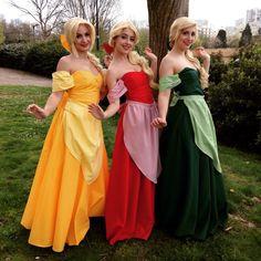 Nuna (Laurette), LilyOnTheMoon (Claudette) & Pandora Clemy (Paulette) are the Bimbettes. Disney´s Animation Movie: The Belle And The Beast.  Paris, France. 2014
