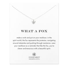Fox Necklace, Sterling Silver | Dogeared
