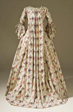 1770... Cotton Sacque (via Hallie Larkin at http://thegoldenscissors.blogspot.com/) Los Angeles County Museum of Art