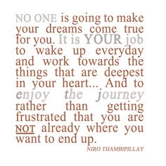 Nobody else will make your dreams come true. You must work at it constantly. And you MUST NEVER let your frustrations stop you from moving forwards! #MentalToughness