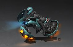 Hover bike by Skiorh on DeviantArt Hover Car, Hover Bike, Futuristic Motorcycle, Futuristic Art, Arte Sci Fi, Sci Fi Art, Aliens, Flying Vehicles, Sci Fi Ships