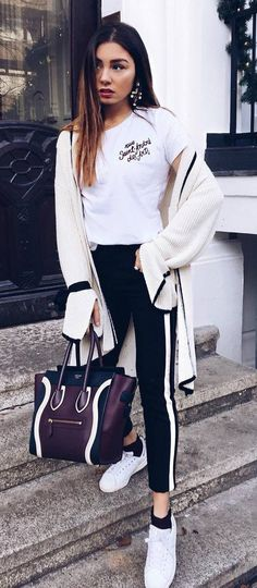 white and black / street style
