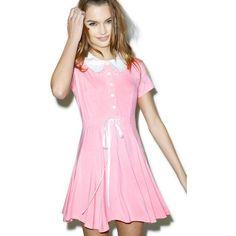 Kill Star Baby Doll Dress ($58) ❤ liked on Polyvore featuring dresses, babydoll dress, zipper back dress, kill star, skater dress and scalloped dress