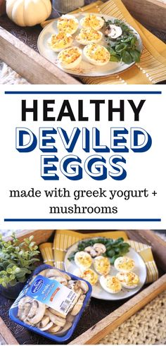 Be the talk of your next get together by stepping in with a tray of savory and creamy deviled eggs. Healthy Deviled Eggs, Perfect Deviled Eggs, Guacamole Deviled Eggs, Deviled Eggs Recipe, Best Mushroom Recipe, Mushroom Recipes, Mushroom Appetizers, Yummy Appetizers, Egg Recipes