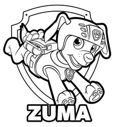 paula marshall coloring pages | PAW Patrol Tracker Coloring Pages | Ausmalbilder | Paw ...