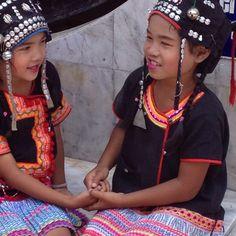 hill tribe children near Chiang Mai Thailand