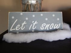 Let It Snow Handmade Distressed Wood Sign by WaterandWoodSigns
