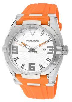 Police orange watch