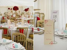 #Red  white #wedding reception ... Wedding ideas for brides, grooms, parents  planners ... https://itunes.apple.com/us/app/the-gold-wedding-planner/id498112599?ls=1=8 … plus how to organise an entire wedding, without overspending ♥ The Gold Wedding Planner iPhone App ♥