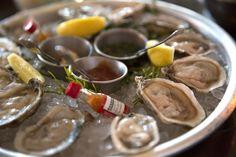 Oysters - East & West Coast! Terrazza Lounge at Hotel Casa del Mar - Santa Monica, California.