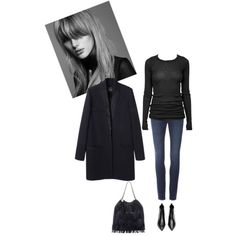 A fashion look from December 2014 featuring black long sleeve shirt, stretch skinny jeans and black ankle booties. Browse and shop related looks.