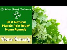 [Video] Best Natural Muscle Pain Relief Home Remedy | Natural Remedy Solutions