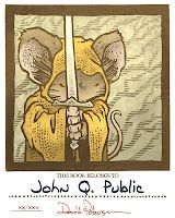 2012 Bookplate  blog talking about how he makes the prints.