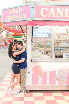 Carnival theme Engagement pictures by Kristy & Vic Photography