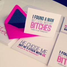 Modern Luxe // Wedding Party Cards   Just Invite Me, This Way to Fabulous, Inc. Schaumburg, Illinois Wedding Invitations