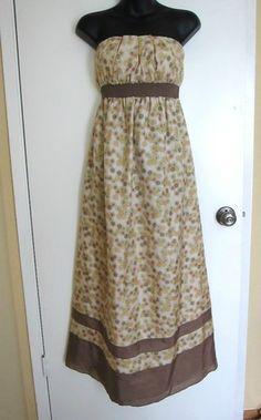Mimi Maternity Silk Maxi Dress Long Strapless Floral Bohemian Boho Designer S   eBay $18