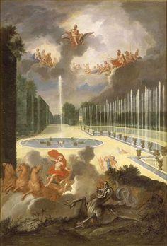 The Fountains of Versailles in the Time of Louis XIV:  vue du Bassin du Dragon et de la rampe du bassin de Neptune (Cotelle)