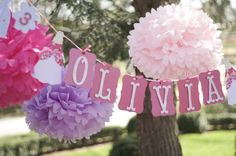Princesa... 7 Papel Poms. Decoración de la boda... Cumpleaños... Despedida de soltera