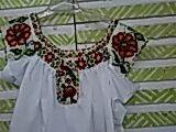 Blusa chaquira bordado a mano  pinotepa oaxaca
