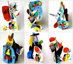 3D Mirò sculpture - could be taught during lines OR for recycled art (made from cereal boxes)