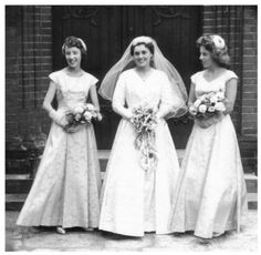 real photos of 1950's wedding | ... wedding dresses was taken later in the decade. See more 1958 wedding