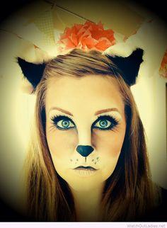 Fox makeup-adapt for bear for Halloween