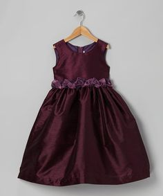 Take a look at this Eggplant Rosette Dress - Infant, Toddler & Girls by Kid's Dream on #zulily today!