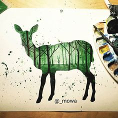 Missing the green of summer while painting this one! Can you see the buck? Available on www.mowa.ca!  #art #illustration #design #animal #nature #wildlife #explorebc #vancouver #gastown #yaletown #vancity #sketch #art_spotlight #artistshouts #art4youu #instartists # #findartmagazine #artist_publicity @arts.gallery @art_sanity @bestartfeatures @art.discover #artistshouts #art_sanity #instartists @artbot @arts_help @instartists @creativeinstaartists @worldofartists #sharingart #art_spotlight…