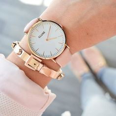 Rose Gold bracelet and watch