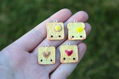 #Kawaii Toast #Charm #Polymer #Clay by EmssysBoutique on Etsy