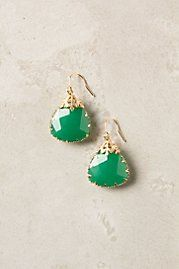 Fancy emerald jewel earrings