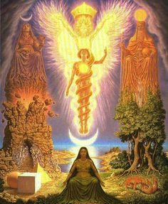 The vision of Hermes Trismegistus - Johfra Bosschart