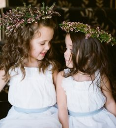 I don't know if you will have flower girls. But I think these little flower head bands are so cute. And could match if you threw lavender.