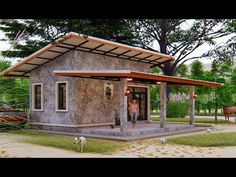 Looking for a Small House Design? Check These 7 Designs For Inspiration Hut House, Tiny House Cabin, House On Stilts, Small House Plans, House Roof, Smart Home Design, Small House Design, Modern House Design, Modern Tropical House