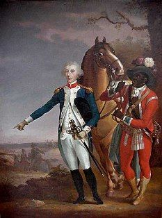 James Armistead is depicted as a salve of Washington but if you know your history, he was a spy for Washington.  He was a double agent.  The British trusted him and he fed them bad information about us.  Without him, the Battle of Yorktown might not have happened and the American Revolution might have ended differently.