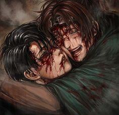 Hanji Zoe & Levi. Attack on titan. 進撃の巨人. Shingeki no Kyojin. Атака титанов. #SNK. #AOT