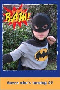 batman party invitation - Super Hero Birthday Party