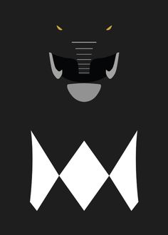 Power Rangers - Black Ranger Minimalist Art Print