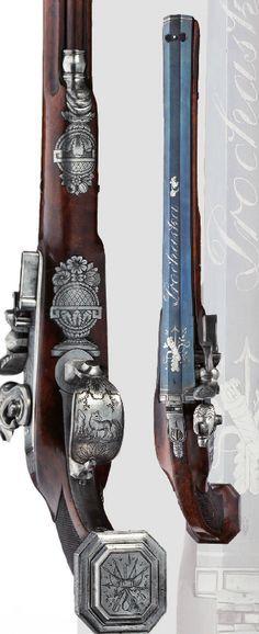 A flintlock pistol, Europe, ca. 1824 this is my favorite flintlock I have ever seen Weapons Guns, Guns And Ammo, Rifles, Arma Steampunk, Flintlock Pistol, Custom Guns, Fire Powers, Arm Armor, Cool Guns