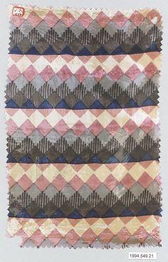 Textile sample Manufacturer: Wiener Werkstätte Designer: Unknown Designer Date: 1910–28 Medium: Silk