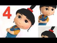 Tutorial ♡ Agnes (Parte 4 /4) - Meu malvado favorito em biscuit - YouTube