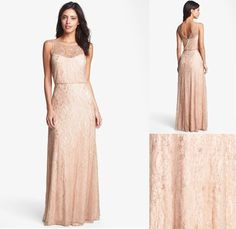 Rose gold bridesmaid dress | OneWed.com