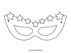 Carnival mask with little stars carnevale Colouring Pics, Coloring Books, Coloring Pages, Printable Masks, Printable Crafts, Color Activities, Party Activities, Easy Diy Crafts, Crafts For Kids