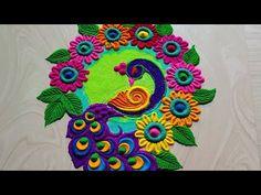 Rangoli Designs Simple Diwali, Simple Rangoli Border Designs, Rangoli Designs Latest, Rangoli Designs Flower, Rangoli Borders, Free Hand Rangoli Design, Rangoli Patterns, Small Rangoli Design, Rangoli Ideas