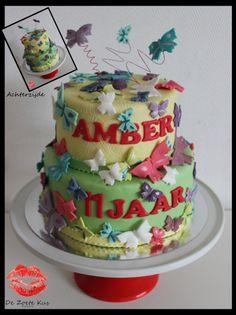 Collorfull butterflie cake