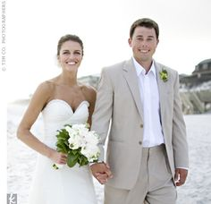 Groom attire - theknot.com - This is my idea of how to dress for a beach/location wedding.