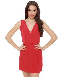 Epaulette It Be Red Dress